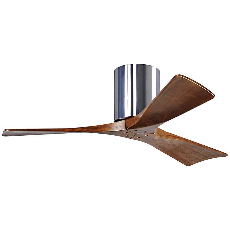 "42"" Matthews Irene-3H Blade Walnut-Chrome Hugger Ceiling Fan"