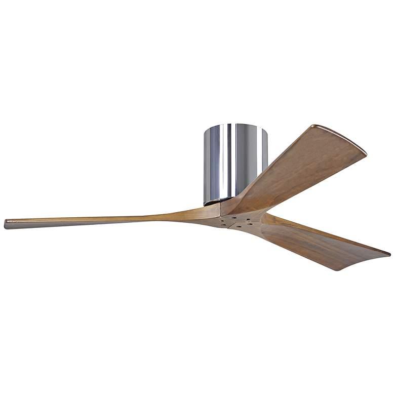 "52"" Matthews Irene-3H Blade Walnut-Chrome Hugger Ceiling Fan"