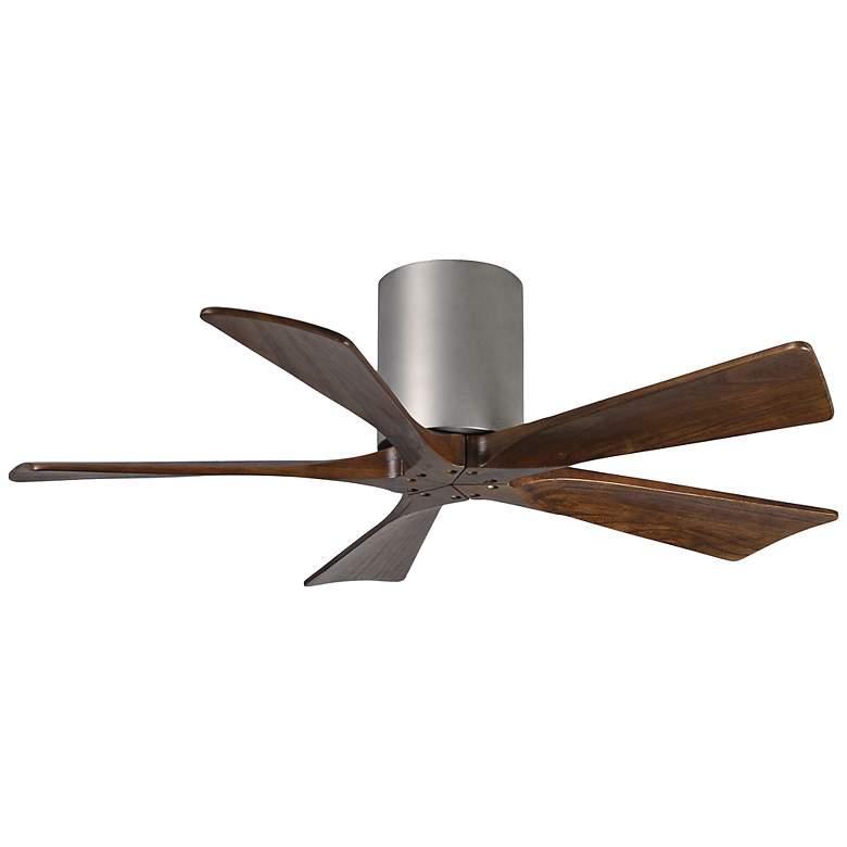 """42"""" Matthews Irene 5-Blade Walnut-Nickel Hugger Ceiling Fan"""