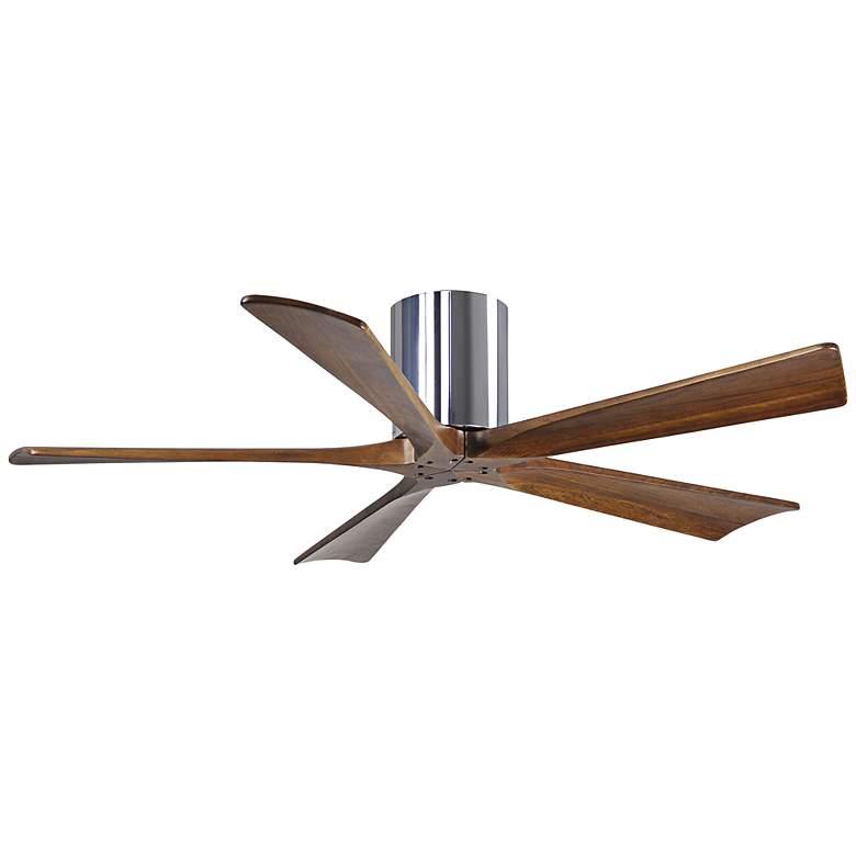 "52"" Matthews Irene-5H Walnut-Chrome Hugger Ceiling Fan"