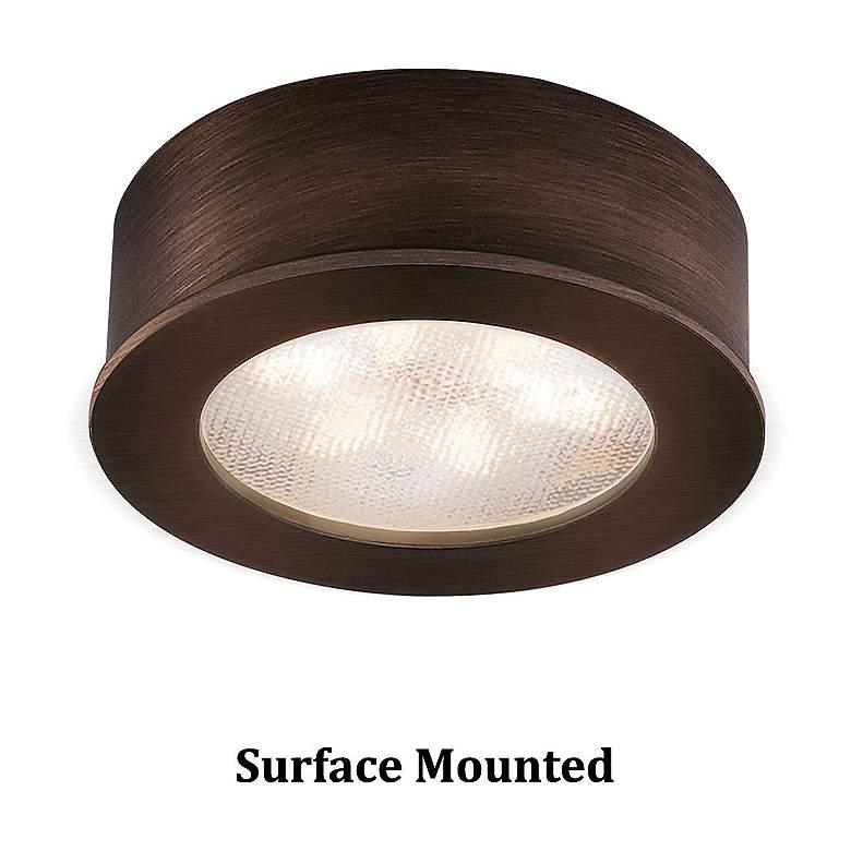 "WAC LEDme 2.25""W Round Copper Bronze 3000K LED Button Light"