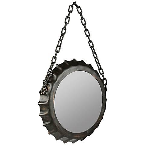 """Cooper Classics Dalla Black 14"""" x 22 1/4"""" Wall Mirror"""