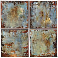 "Uttermost Accent Tiles 20"" Square Wall Art Set of 4"