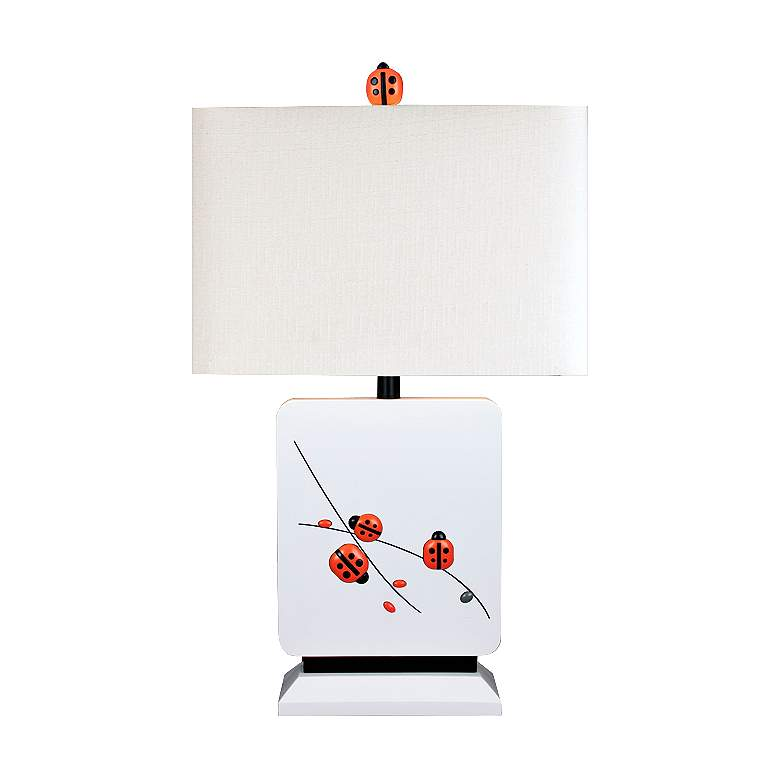 A Child's Garden Ladybug White Table Lamp