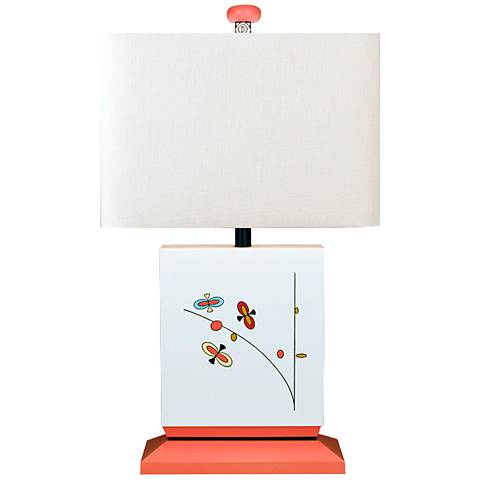 A Child's Garden Butterfly White Table Lamp