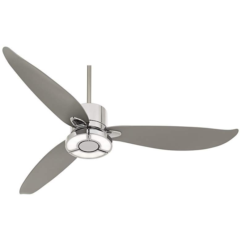 "56"" Possini Vengeance™ LED Chrome Ceiling Fan"