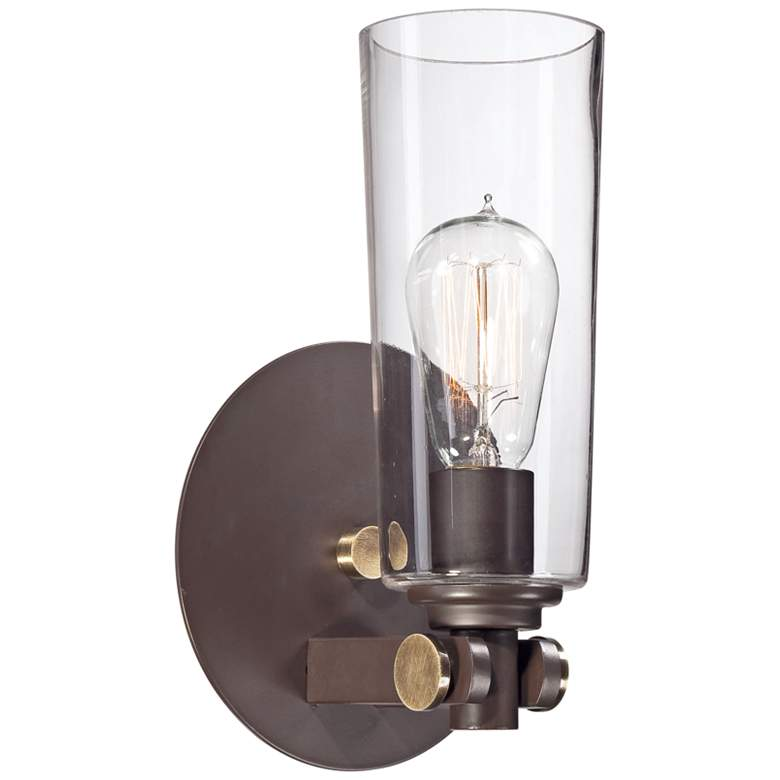 "Quoizel Uptown East Village 11""H Western Bronze Wall Sconce"