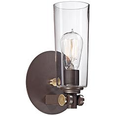 """Quoizel Uptown East Village 11""""H Western Bronze Wall Sconce"""
