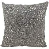 "Mina Victory Luminescence Pewter Gray 16"" Square Pillow"