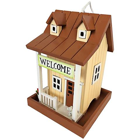 Welcome Home Country Yellow Birdfeeder