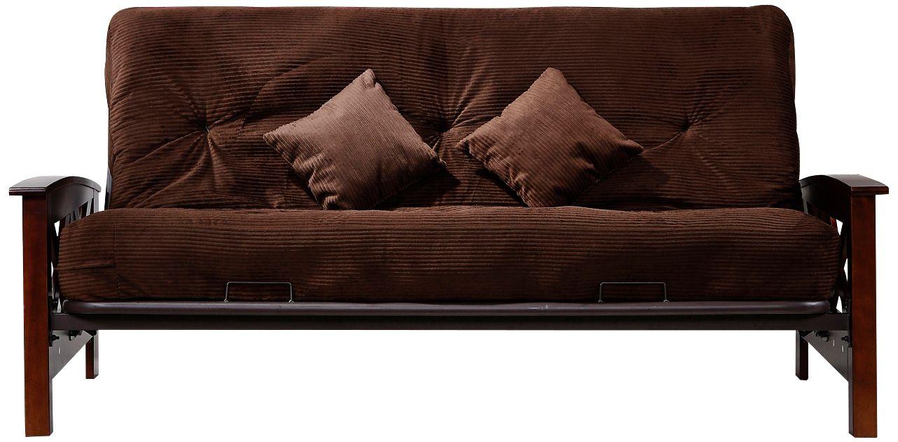 oregon chocolate corduroy full size pocket coil futon oregon chocolate corduroy full size pocket coil futon    7d874      rh   lampsplus