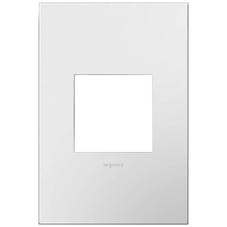 adorne Gloss White-on-White w/ White Back 1-Gang Wall Plate