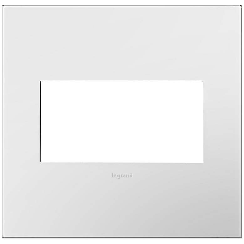 adorne Gloss White-on-White w/ White Back 2-Gang Wall Plate