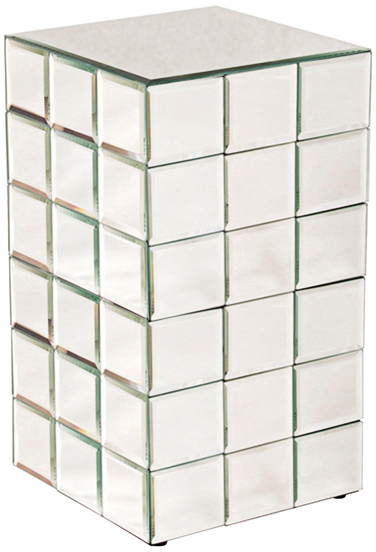 Howard Elliott Antares Mirror Puzzle Cube Pedestal