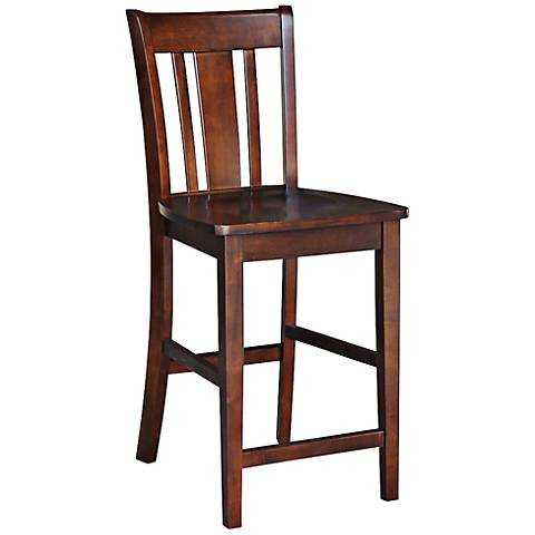 "San Remo 24"" Espresso Armless Counter Stool"