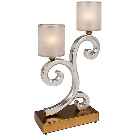 "Eubank Hand-Painted 33"" High 2-Light Table Lamp"