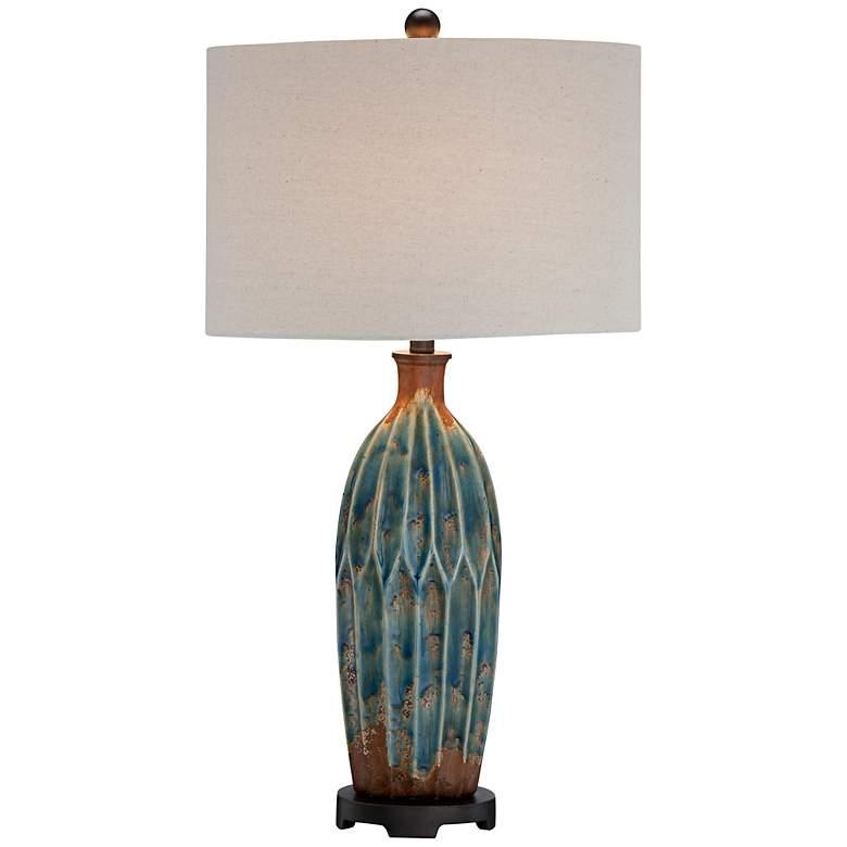 Fargo Azul Blue and Rust Table Lamp