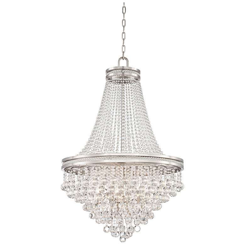 """Cherrie 29"""" Wide Large Clear Crystal Chandelier"""
