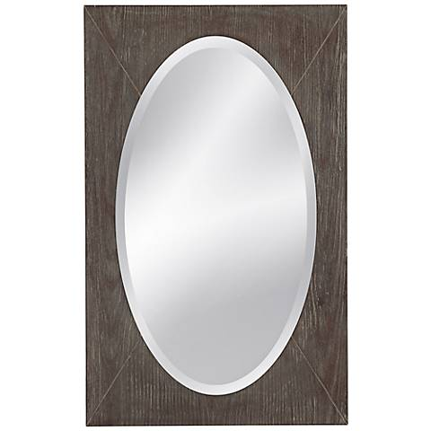 """Shelby Distressed Silver 20"""" x 32"""" Wall Mirror"""