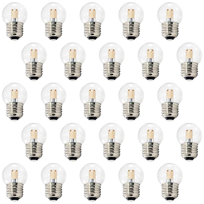 10W Equivalent Clear 1.2W LED Dimmable E26 G40 Pack of 25