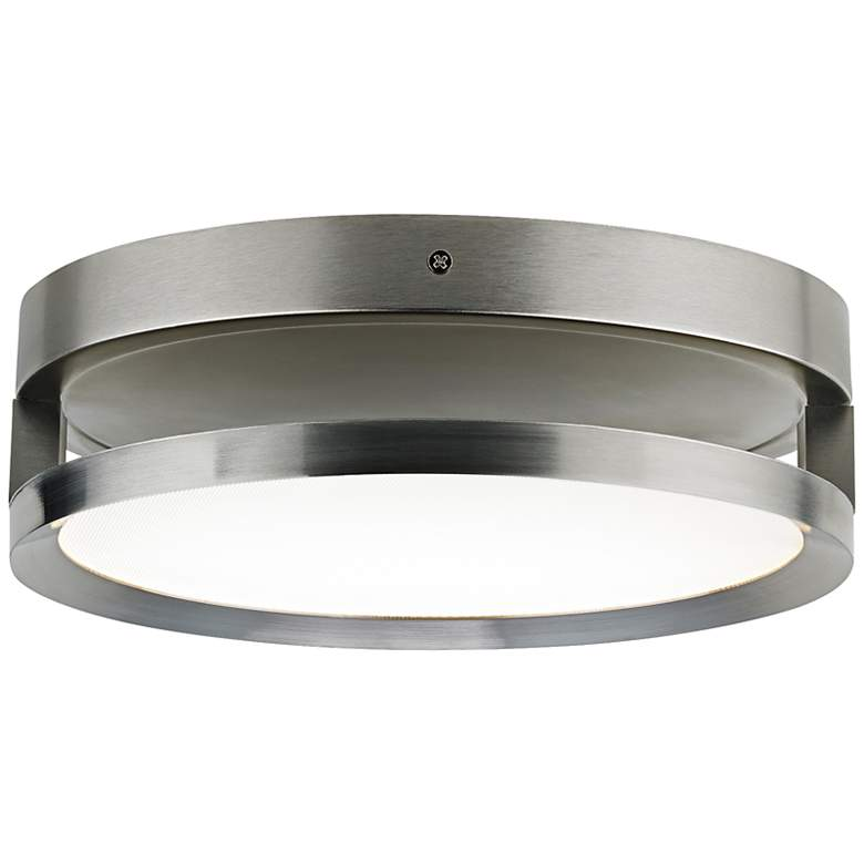 """Finch Float 12"""" Round Satin Nickel LED Ceiling Light"""
