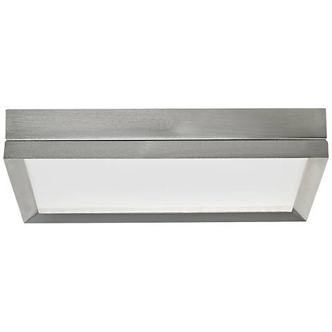 "Finch 12"" Square Satin Nickel LED Ceiling Light"
