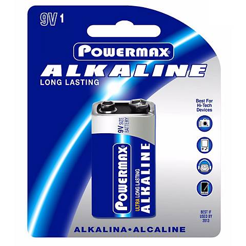 Powermax 9-Volt Alkaline Battery