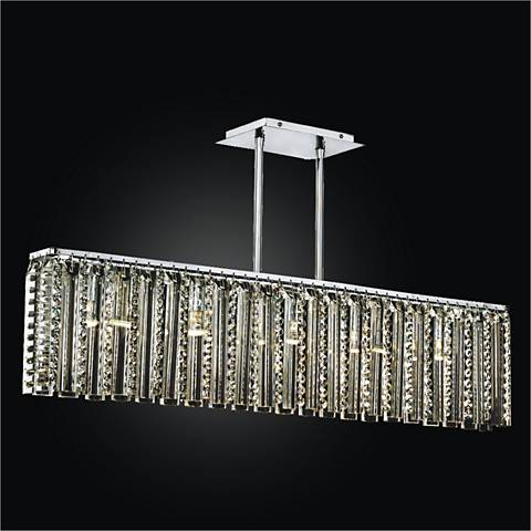 "Odyssey 5-Light 37"" Wide Crystal Island Chandelier"