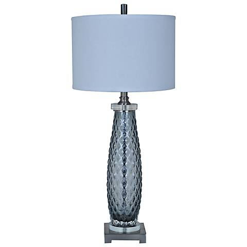 Crestview Collection Tunner Opaque Gray Glass Table Lamp