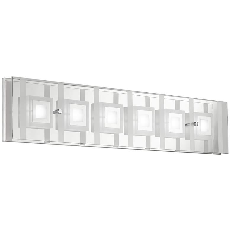 "Reese 28 1/4"" Wide 6-Light Glass LED Bath Light"