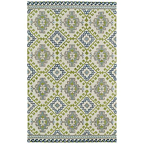 Kaleen Global Inspirations GLB07-01 Wool Ivory Area Rug