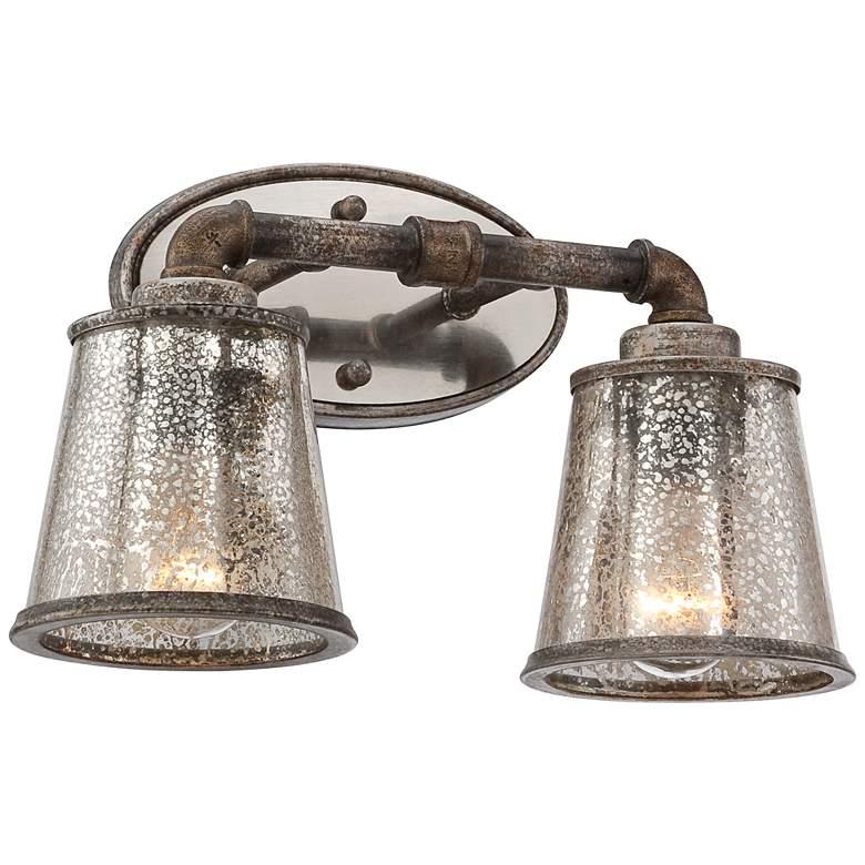 "Fillmore 14 1/4"" Wide Industrial Rust 2-Light Bath Light"