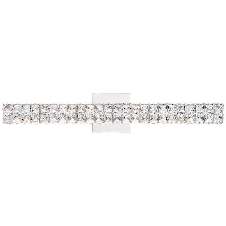 "Romantica 26"" Wide Clear Crystal LED Bath Light"