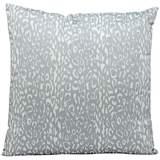 """Mina Victory Leopard 20"""" Gray Indoor-Outdoor Pillow"""