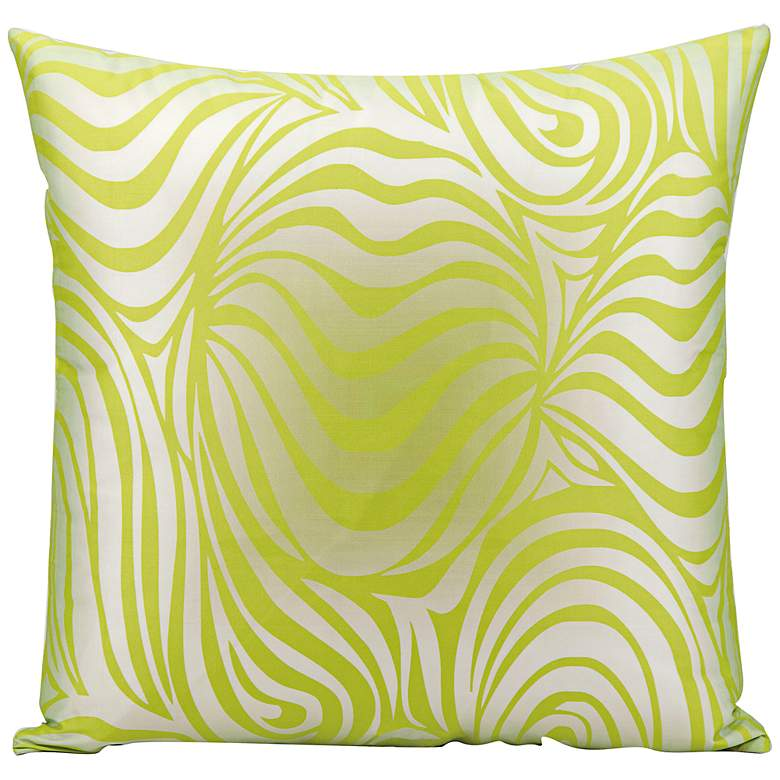 """Mina Victory Wave 18"""" Lime Green Indoor-Outdoor Pillow"""