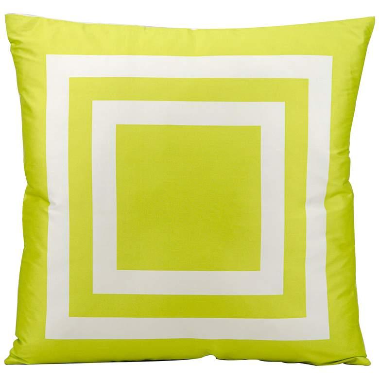 "Mina Victory Geometric 20"" Green Indoor-Outdoor Pillow"