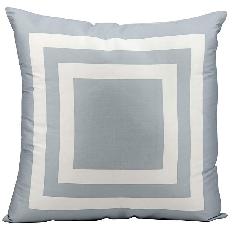 """Mina Victory Geometric 20"""" Square Gray Indoor-Outdoor Pillow"""