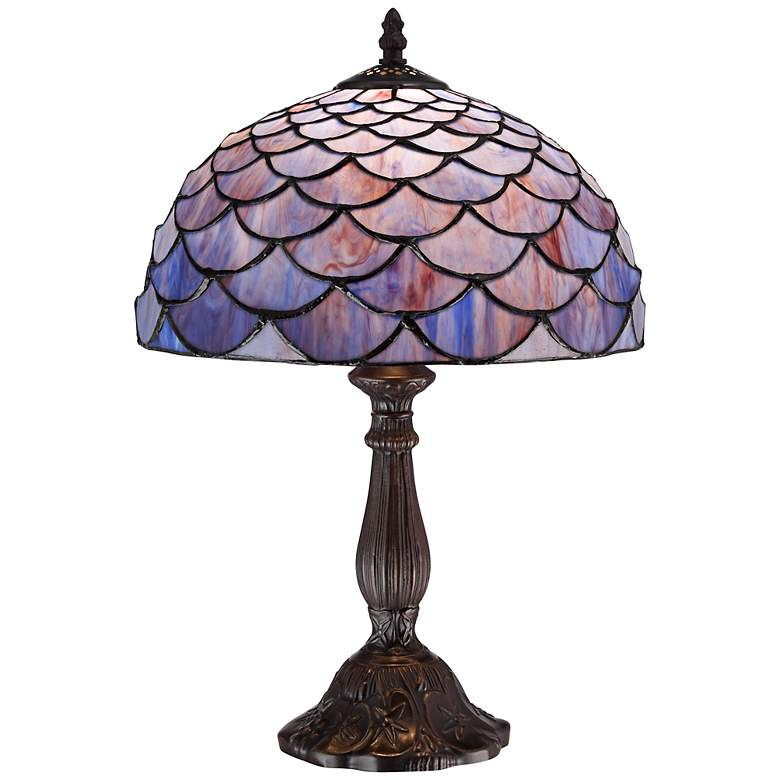 Blue Shell Tiffany Style 18 Quot High Accent Table Lamp