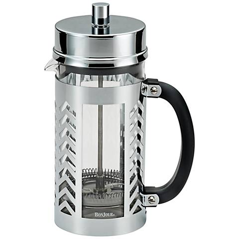 BonJour Coffee Stainless Steel 8-Cup Chevron French Press