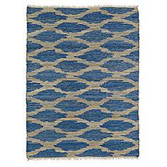 """Kaleen Kenwood KEN01-22 5'x7'9"""" Navy Blue Jute Area Rug"""