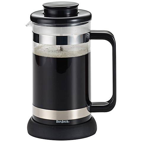 BonJour Coffee and Tea Black 8-Cup Riviera French Press