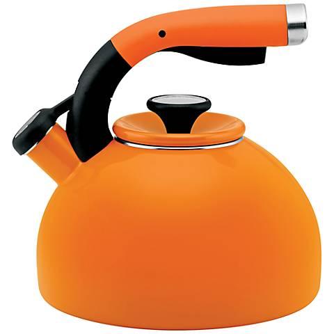 Circulon Mandarin Orange 2-Quart Morning Bird Teakettle
