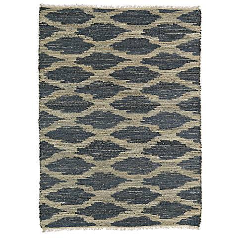 Kaleen Kenwood KEN01-10 Denim Blue Jute Reversible Area Rug