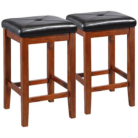 "Sutton 24"" Cherry Counter Stools Set of 2"