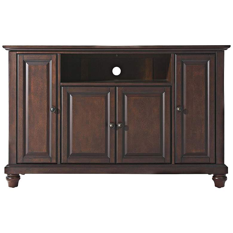 "Cambridge 48"" Wide Raised Panel 4-Door Mahogany TV"