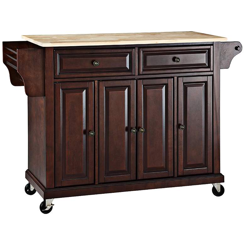 cutting board kitchen island dover 52 quot cutting board top mahogany kitchen island cart 7g975 ls plus 9342
