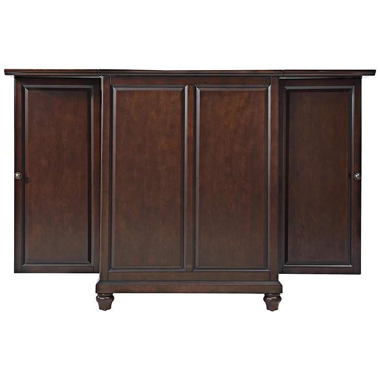"Cambridge 62 1/2"" Wide Vintage Mahogany Wine and Bar Cabinet"