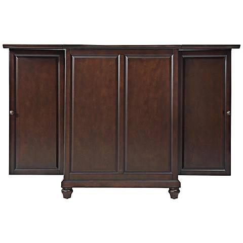 Cambridge Vintage Mahogany 2-Door Expandable Bar Cabinet