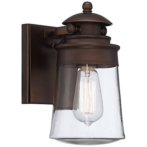 "Ridgepoint 10 1/2""H Vintage Edison Bronze Outdoor Wall Light"