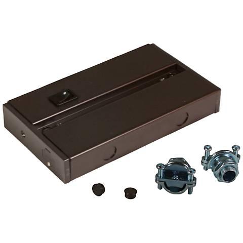 Complete Dark Bronze LED Under Cabinet Light Hardwire Box